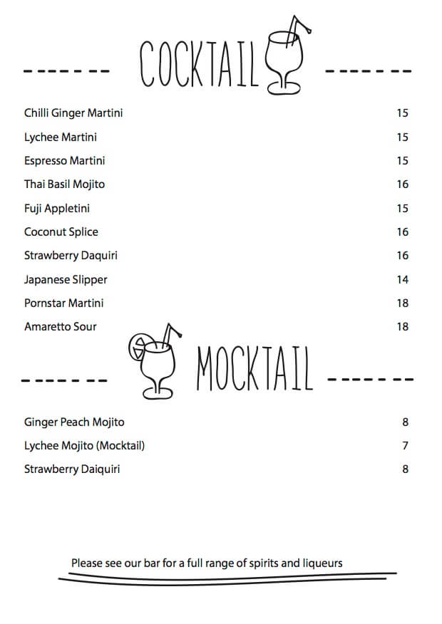 drink: cocotail, mocktail